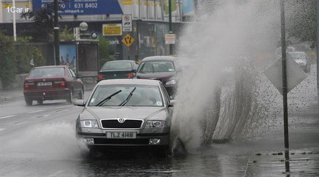 5 توصیه ایمنی برای رانندگی در باران