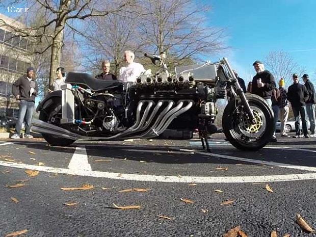 موتورسیکلت 12 سیلندر؟!