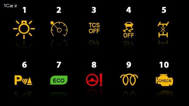 معنی و مفهوم چراغ های اخطار پشت آمپر خودروها - بخش دوم