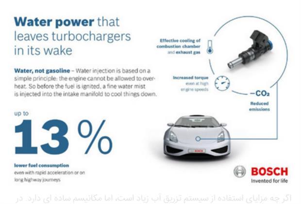 فناوری تازه BOSCH تزریق آب به درون موتور