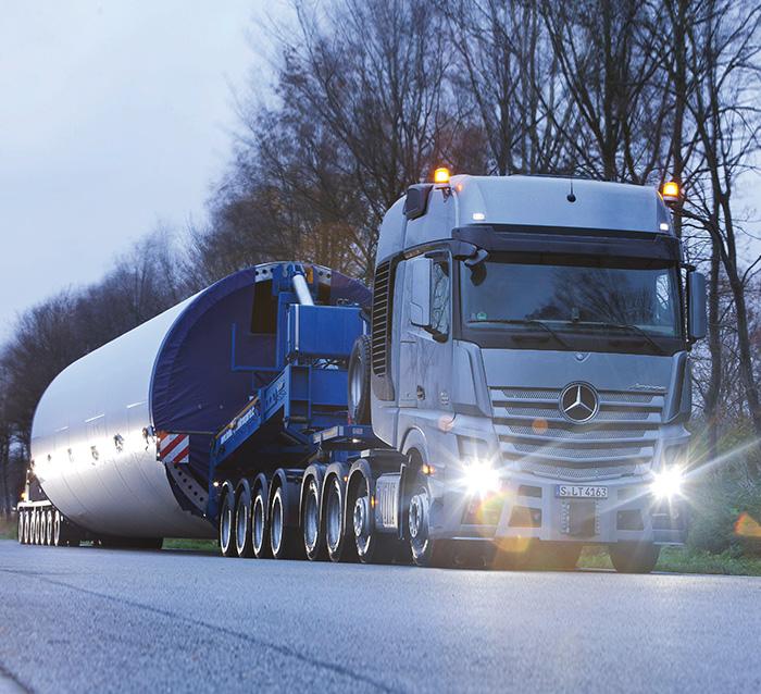 تست رانندگی کامیون مرسدس بنز آکتروس SLT